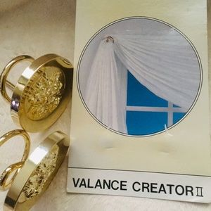 Other - NWT Gold Plated Curtain Swag Holders
